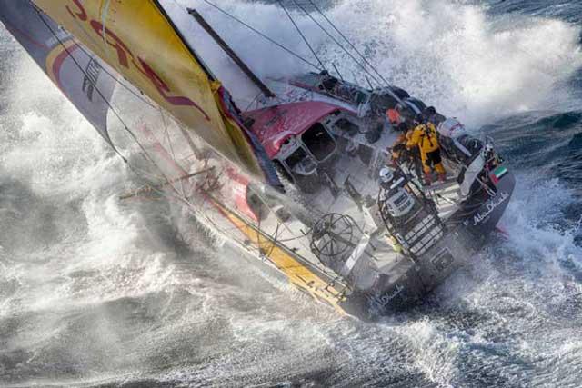 Volvo Ocean Race Storm