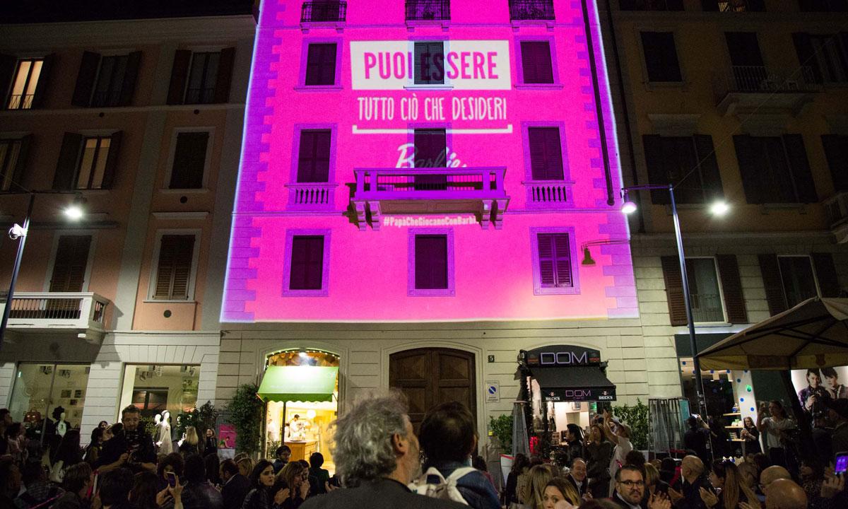 La casa di barbie prende vita in corso como per la design for La casa rosa milano